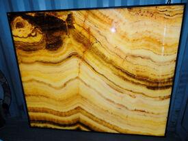 Huge LED Translucent False Marble Feature Wall Light Panel Restaurant pub Shop