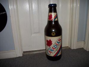 Molson Canadian Coin Bank, J&B Rare & Old Beer Bottles
