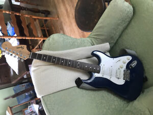 Fender Squier electric guitar with soft case