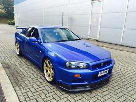 1999 T Reg Nissan Skyline R34 2.6 GTR + Bayside Blue+ 730bhp Abbey Motorsport