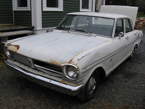 Wanted a 1962-65 Chevy 11, Nova or Acadian PARTS FOR SALE