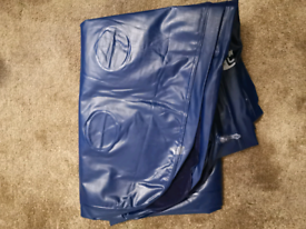 Inflatable double air bed