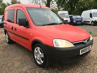 2008 08 Vauxhall Combo 1.3CDTi 16v 2000 CREW VAN 5SEATS**74K MILES
