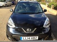 nissan micra 2014 black 1198 cc manual 5 doors low roadtax £30 for one year