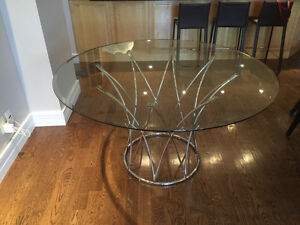 """Glass 54"""" table"""