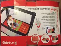Red kite baby travel cot play mat in box