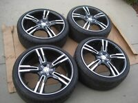 NEW Mustang Platinum 291 Saber 20x9 wheels 255/35ZR20 Tires TPMS