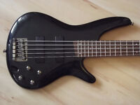 5 String Ibanez Bass guitar with Amp