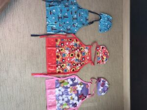 Kids aprons and chef hats NEW