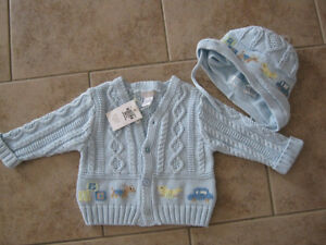 New Baby boy sweater and matching hat... St. John's Newfoundland image 1