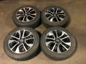 HONDA 2014+ MAGS 16 INCH WITH WINTER TIRES CONTINENTAL 205/55R16
