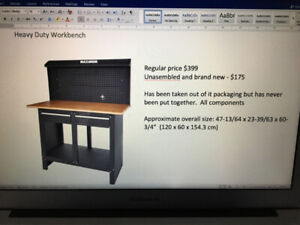 Heavy Duty Metal Work Bench