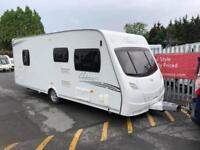2010 Lunar Clubman SI 4 Berth Caravan FIXED ISLAND BED, Awning, BARGAIN !