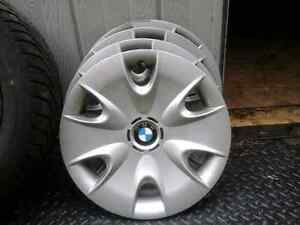 BMW winter steel rims and hubcaps with winter tires