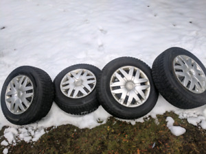 Brand new winter tires on used rims