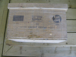 Wooden Castrol Box