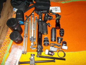 Nikon, Tamron, Vivitar lenses and equipment