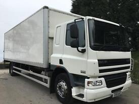 2011 11 DAF CF 65.250 euro 5, sleeper cab, 28ft6 box, tail-lift