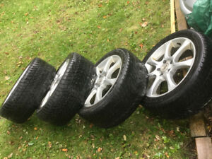 235/45/R17 alloy rims...has winter tires on but are worn