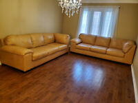 CANADIAN MADE HUGE SIZE LEATHER COUCHES, DELIVERY AVAILABLE