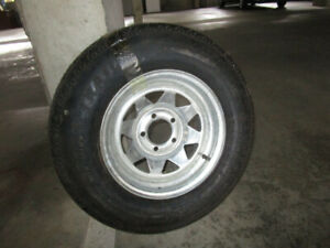 Trailer Tyre on Rim - New