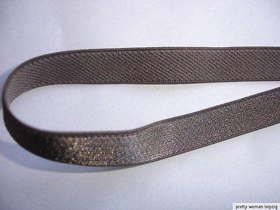 10m Gummiband 0,24€/m braun Trägerband 10mm breit  TA101