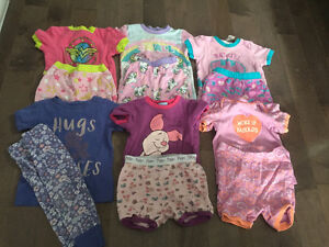 Girls summer pajamas size 6-12 months