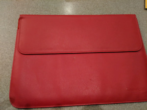 Mac Book Air Laptop Leather Carrying Case