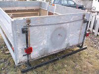 "9' X 6'7"" Solid Utility Trailer. New LED lights. MUST SEE"