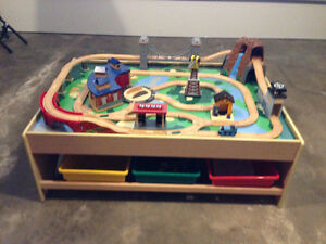 Thomas the Tank Engine Table Cars and Trucks and DVDs