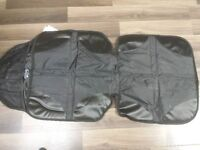 seat protector for under car seat. protects seat from damage.