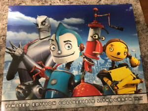 Disney's Robots Limited Edition Lithograph