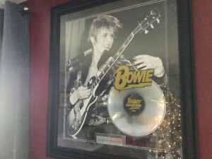 David Bowie Framed Legacy Collection SIlver record framed
