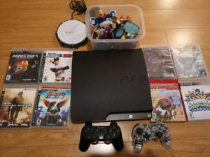 PS3 Slim w/ 9 games