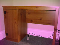Small Desk with Cupboard for Sale