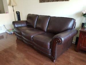 Amazing 100% leather sofa & loveseat original $5000