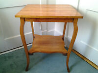 Antique 2 Tier Oak Parlour Table