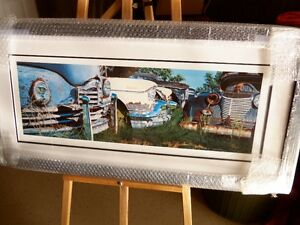 """'CADILLACS AND PACKARDS'  framed Limited Edition Print 16""""X36"""" Kitchener / Waterloo Kitchener Area image 1"""