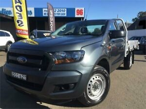 2015 Ford Ranger PX MkII XL 2.2 (4x2) Grey 6 Speed Manual Cab Chassis