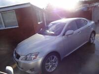 LEXUS IS 220D 175~56/07~6 SPEED MANUAL~4 DOOR SALOON~STUNNING SILVER~VERY CLEAN