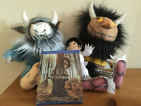 Where the Wild Things are Blu-Ray and stuffed toys