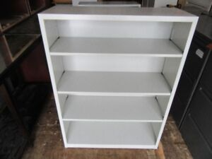2 Metal bookcase with adjustable shelving