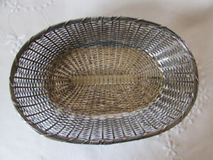 Antique/Vintage Silverplate Basketweave Bread Basket