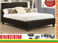 New Kingsize leather Bed with Mattress