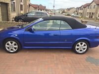 Blue Vauxhall Astra Coupe Convertible 1.8