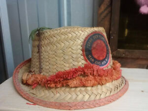 Mens/Womens Expo 67 Straw Hats, Elks Fez & Plastic Bag Hat