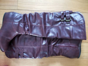 Bordeaux burgundy knee high boots size 9