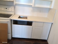 Cabinet's installer, kitchens, vanities and garage cabinets. Whe