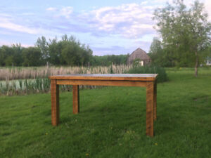Custom harvest tables