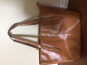 Brand new faux leather purse/tote bag